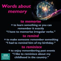 words about memory
