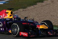 Sebastian Vettel (GER) Red Bull Racing RB9.  Formula One Testing, Day 3, Jerez, Spain, Thursday, 7 February 2013