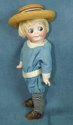 """Mischief on his mind! Little 11"""" Googly by Kestner marked 221"""