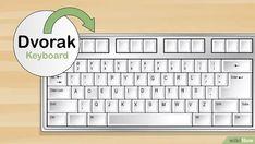 Das 10 Finger System lernen: 15 Schritte (mit Bildern) – wikiHow Hacking Websites, Life Hacks Websites, Useful Life Hacks, Computer Basics, Der Computer, Computer Keyboard, Typing Hacks, Typing Skills, 10 Finger System Lernen