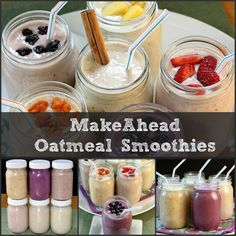 Make-Ahead Oatmeal Smoothies