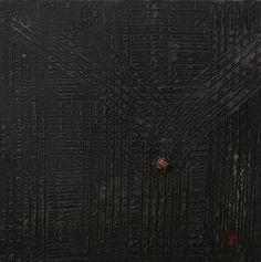 Croco par Floriane Lemarié    Enduit, acrylique sur toile  Dimensions : 40 cm x 40 cm