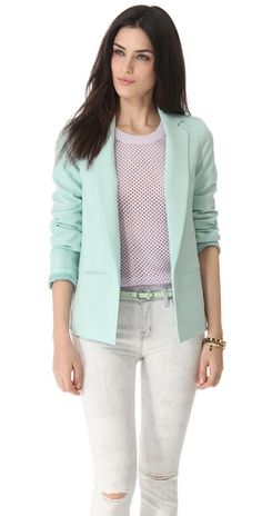 mint blazer ... Would love one of these