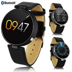 Indigi 2017 NEW Elegant M365 Round Leather SmartWatch Bluetooth 4.0 Sync - Heart Sensor - Pedometer - Fitness. Universal Compatibility - iOS or Android! The M365 SmartWatch is Capable of syncing with either platforms! Can even use Siri directly from your watch!. Ringtone & Vibration - M365 rings and vibrates, showing incoming phone numbers. Answer directly from your wrist - no more missed calls. Heart Rate Monitor & Pedometer - Kick Start your health by keeping track of your BPM and Steps...