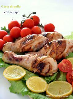 Cosce di pollo con senape