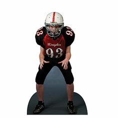 Choose from our standard free-standing Lifesize Standee Football in sturdy cardboard, weather resistant corex standee or high quality foam core standee.