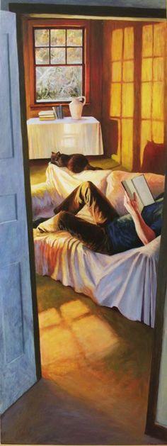 Winter's Late Light, oil, 2011, by Deborah DeWit / http://www.deborahdewit.com