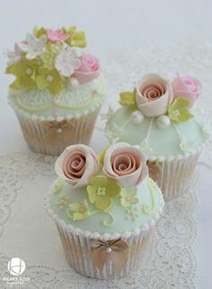 Mooie cupcakes met roosjes