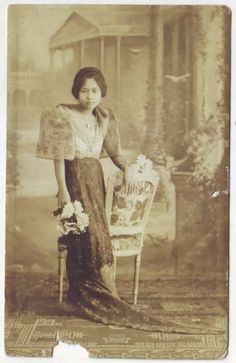 vintage everyday: 24 Charming Photo Postcards of Philippine Girls in Traditional Dresses from between 1910s-20s