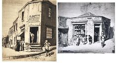 i) the Lolly Shop (Essex Street, The Rocks) 1923; ii) Corn Duffy's Pawnbroker Store (Argyle Cut, Sydney) 1917 by Lionel Lindsay. Etchings 14/75; 26/30.