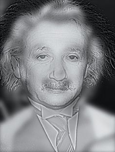 Look at the image from arm's length and it looks like Albert Einstein, right? Now get up and step away from the screen about 10 feet or more. Who is it now? Marilyn Monroe?