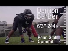 """Barber, (6'3"""" 244lb.) committed to Penn State in February. Playing in his senior season for the Cougars, he is one of a handful of key returners on a team that hopes to factor into a very competitive Mid-Penn Commonwealth division race."""