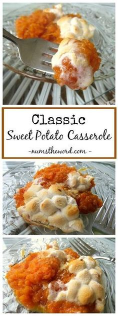 If you love sweet potato casserole try this one. Our absolute favorite version. Simple, non-complicated and oh so good. Classic Sweet Potato Casserole!! #sidedish #thanksgiving #casserole #sweetpotatoes #marshmallows #classic #friendsgiving #christmas #sweetpotato #sweetpotatocasserole #recipe #numstheword