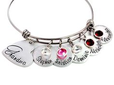 Hey, I found this really awesome Etsy listing at https://www.etsy.com/listing/222468617/personalized-grandma-expandable-bangle