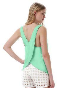 Double layer chiffon Straps vest