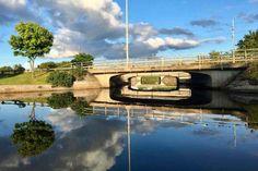 Spegelblankt på Sunna kanal