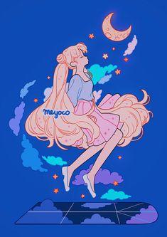 Arte Sailor Moon, Sailor Moon Fan Art, Sailor Moon Usagi, Wallpapers Sailor Moon, Sailor Moon Wallpaper, Arte Do Kawaii, Kawaii Art, Cute Art Styles, Cartoon Art Styles