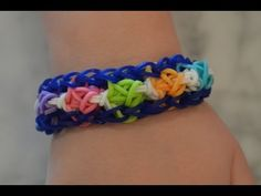 ▶ How to make a Rainbow Loom Tulip Tower bracelet with a border design - YouTube
