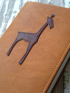 Personalized Giraffe Bible: Genuine Leather covering compact NIV Bible, Brown & Caramel by KatieReynoldsLane on Etsy
