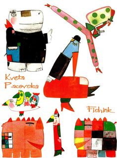 Kvĕta Pacovská(born June 10, 1928) is an 84 year old artist and illustrator. She majored in Graphic Art in the Prague School of Applied Arts and mainly worked in graphics, conceptual art and artis...