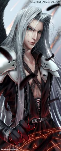 Sephiroth Final Fantasy VII Remake by ArchaediaStudios.deviantart.com on @DeviantArt