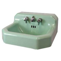Green Cast Iron Sink - Columbus Architectural Salvage