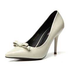 (39.75$)  Watch more here - http://ai2hx.worlditems.win/all/product.php?id=32610762255 - Trendy Patent Leather Sexy Pointed Toe Thin Heel Womans Bow-knot Heels Bride Weeding High Heels Dress Shoes Pump