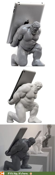 The New Hercules XIII, A Universal Tablet Holder of Mythic Proportions in Glossy Grey or Matte White.