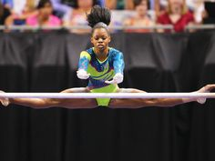 Gabrielle Douglas on uneven bars.