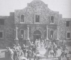 """The Alamo facade from D.W Griffith's """"Martyrs of the Alamo,"""" 1915."""