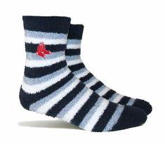 cd98f66c1 Boston Red Sox Fuzzy Steps Comfort Socks