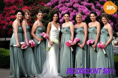 2014  Chiffon Bridesmaid Dresses Mint Green/Blue/Larvender/Coral/Ivory/Hunter Bridesmiad Dresses Cheap/Long Dress Best Selling