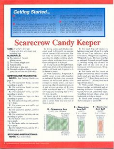 Scarecrow Candy Holder pg01