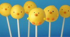 Cake pop de pollito, para un baby shower, para el hospital o para pascua! #easter #pastel , hazlas de tu sabor favorito!