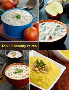 Top 10 Healthy n #Delicious Raitas, Indian Yogurt Raitas   TarlaDalal.com   #139 Indian Cooking