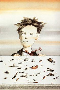 Tullio Pericoli  Arthur Rimbaud 1987