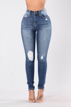 Just A Text Jeans - Medium Dark