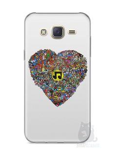 Capa Capinha Samsung J7 Coração Personagens - SmartCases - Acessórios para celulares e tablets :)