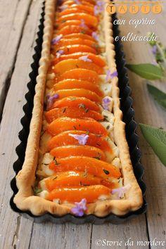 Tarte con caprino del Cilento e albicocche vesuviane per #TerradiFuoco  #goat cheese #apricot