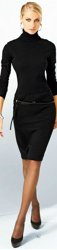 Turtleneck chic - this whole look is so understated and classic - beautiful!