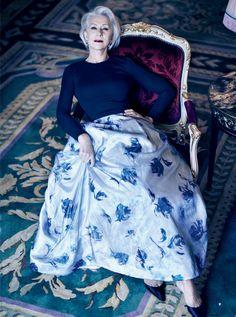 "Helen Mirren "" Great Dame "" by Mikael Jansson Vogue US March 2013"