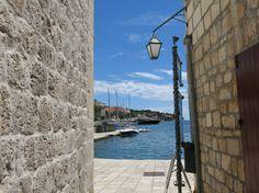 Blue sky in the city of Hvar on the island of Hvar | Croatia | Photo by Sue Frause