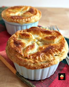 Mini Creamy Chicken Stroganoff Pot Pies Mini Chicken Stroganoff Pot Pies with a to die for flaky buttery pie crust. Serve piping hot from the oven! So good! Mini Chicken Stroganoff Pot Pies with a to die for flaky buttery pie crust. Serve piping hot from the oven! So good! This recipe came about because of participating in our monthly 30 day Recipe Challenge with a group of other bloggers. The challenge for this month was chicken! Well, many of you know I'm a huge fan of chicken. It is so...