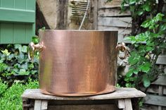Copper ice champagne bucket / Hammered Copper French / Copper