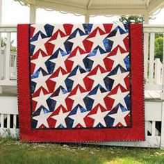 STARS AND STRIPES FOREVER QUILT PATTERN