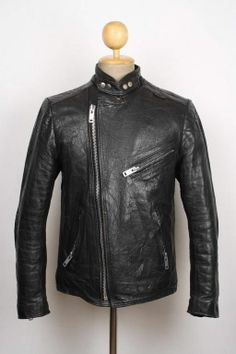MIDNIGHT  Vintage BELSTAFF Black CAFE RACER Jacket MOTORCYCLE Medium