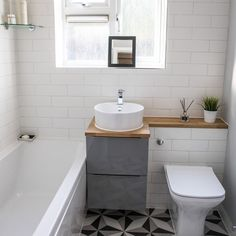 Made from ceramic, these stylish White Matt Linear Brick Tiles are perfect for refreshing and reviving any bathroom or kitchen wall space. Small Bathroom Interior, Small Bathroom Layout, Small Bathroom Ideas Uk, Bathroom Kids, Master Bathroom, Brick Tiles Bathroom, Bathroom Canvas, Shower Tiles, White Brick Tiles