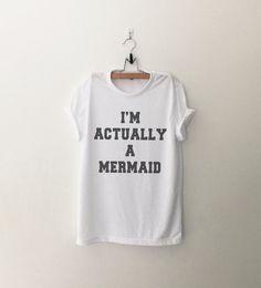 Je suis effectivement un sirène T-Shirt womens cadeaux womens filles tumblr…