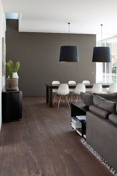 Image result for nordic interiors with dark flooring
