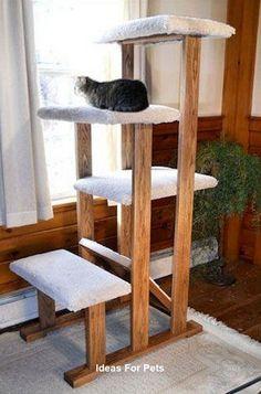 Cat House Diy, Diy Cat Tree, Cat Perch, Cat Towers, Cat Condo, Cat Room, Pet Furniture, Animal Projects, Cat Wall